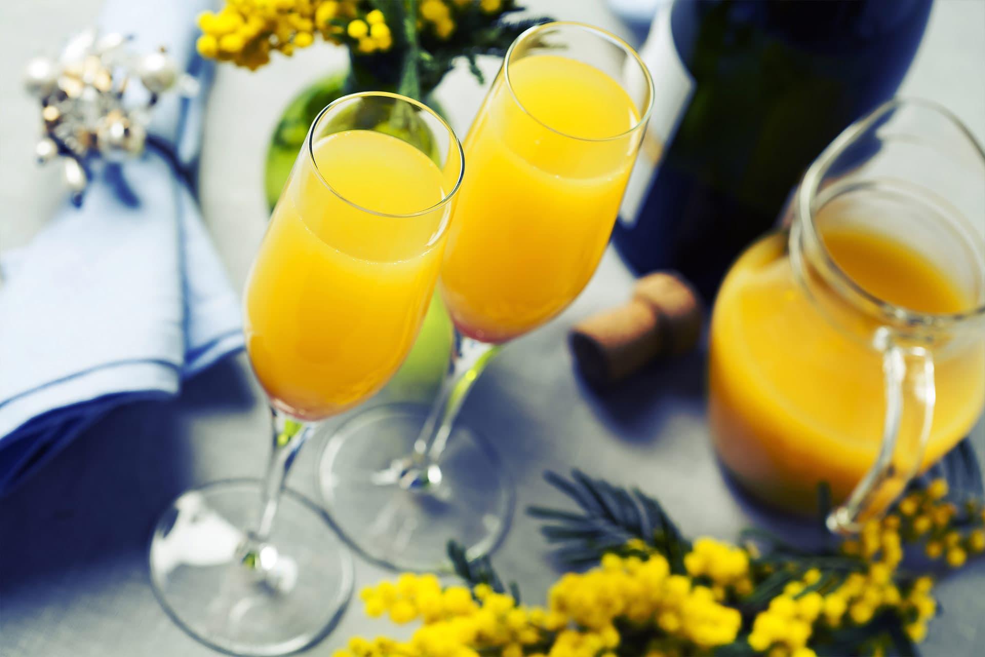 Mimosa Rezept - Sekt mit Orangensaft